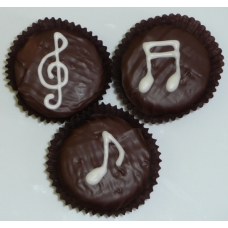Chocolate Covered Oreo Cookie - Music Notes