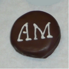 Chocolate Covered Oreo Cookie - Initials