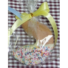 Chocolate Fortune Cookies - Half Dipped w/ Sprinkles!