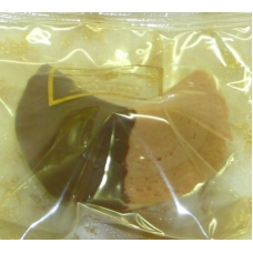 Chocolate Fortune Cookies  - Half Dipped